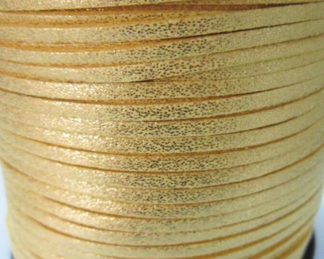 ee137c2dbc1e € 46.53 10% de DESCUENTO|Envío Gratis 100 Metros 10mm x 1.5mm Oro Metálico  Yllow Plana Gamuza Sintética Cuerda De Cuero Para El Collar y pulsera ...