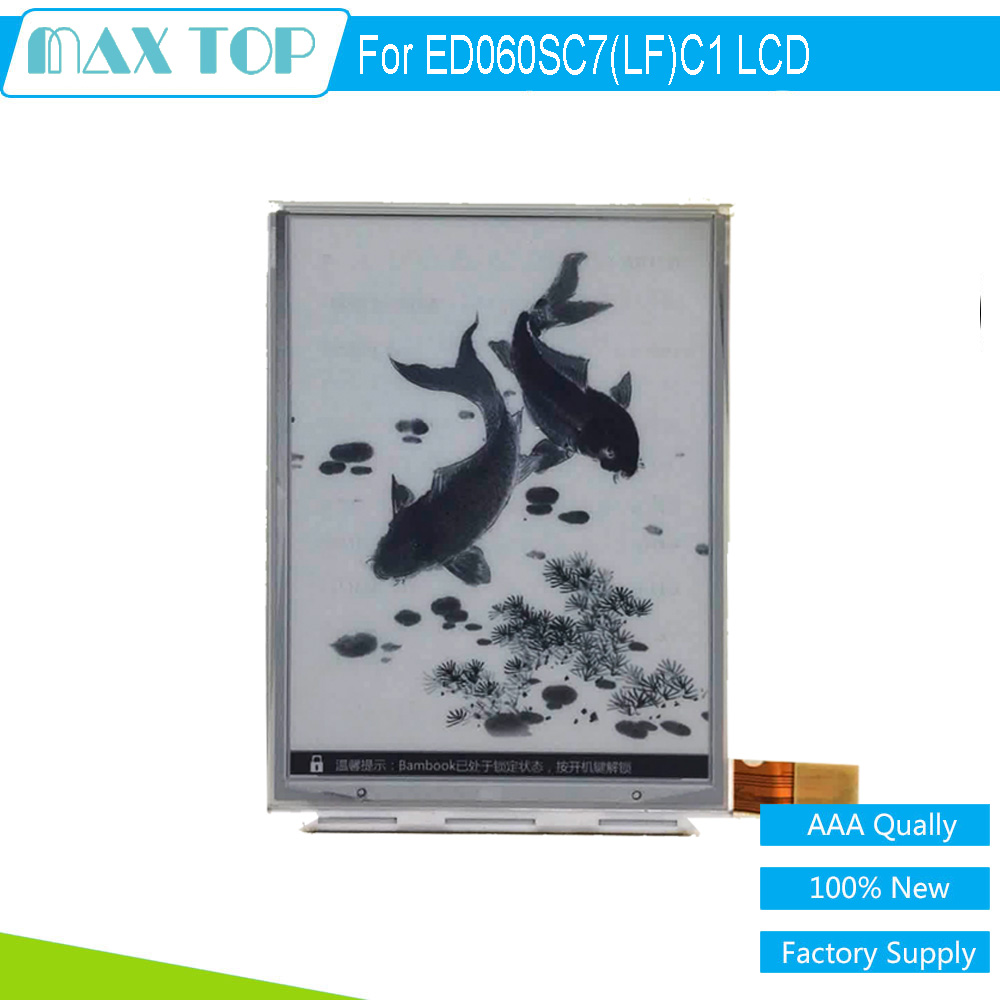 100% NEW Original 6 Inch ED060SC7(LF)C1 E-ink LCD Display Screen For Amazon Kindle 3 D00901 eBook Reader Free Shipping new original high definition screen ed060xc5 ink screen ebook