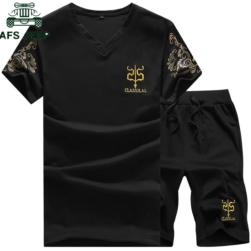 Мужской повседневный спортивный костюм Chandal hombre 5XL, футболка + шорты, штаны, лето 2019