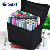 STA Art Marker 30 36 40 48 Alcoholic Oily Based Ink Marker Set Dual Headed Art