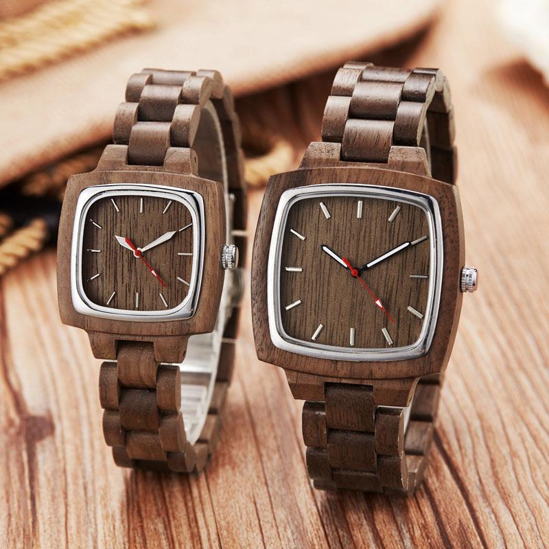 Simple Bamboo Wooden Lover Couple Watches Men Simple Show Wristwatch Women Quartz Male bayan kol saati Gifts Clock Wood Bracelet