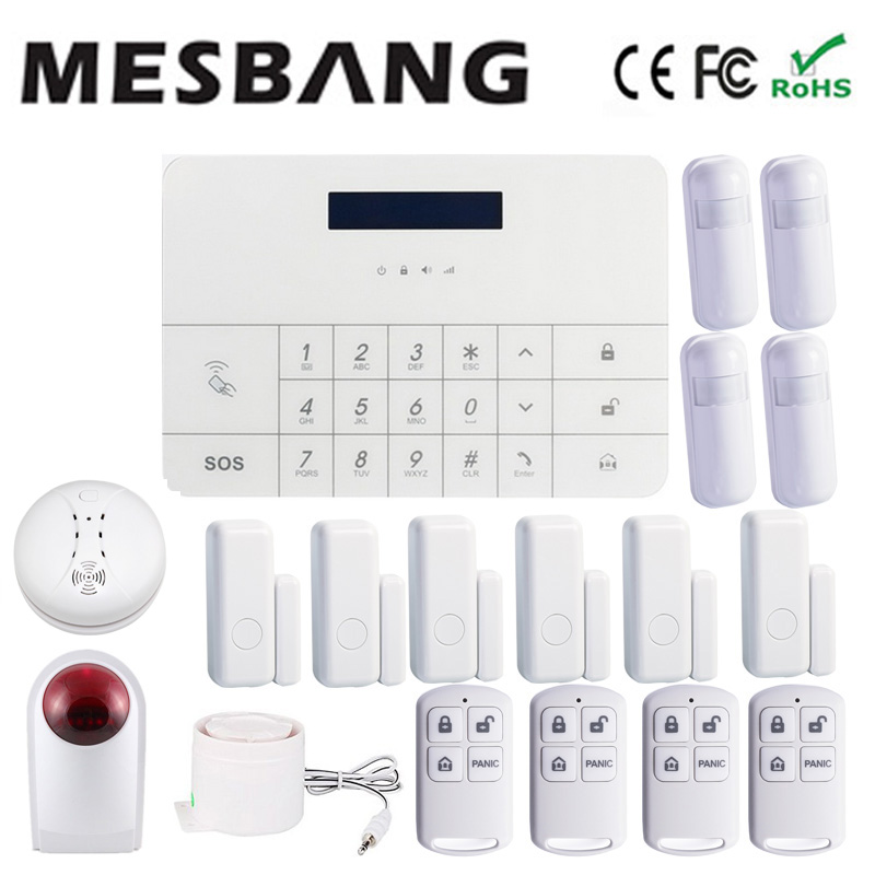 smart white screen touch gsm security alarm system with more sensor mobile app control F ...