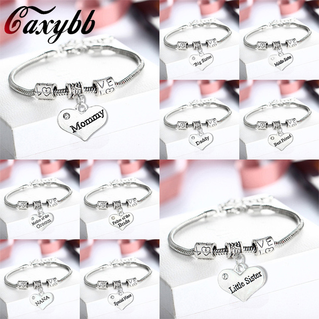 Caxybb Dad Mom Sister Niece Bracelet Jewelry Of The Friend Father And Mother Day