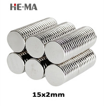 30pcs 15 x 2mm N35 Mini Powerful Magnet Rare Earth Permanent Small Round Strong Neodymium Magents