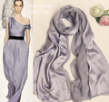 Fashion Brand Design ladies scarfs Silk Scarf Women Silver 100% silk shawls Patchwork Scarves Large Grey Winter Party Pashmina