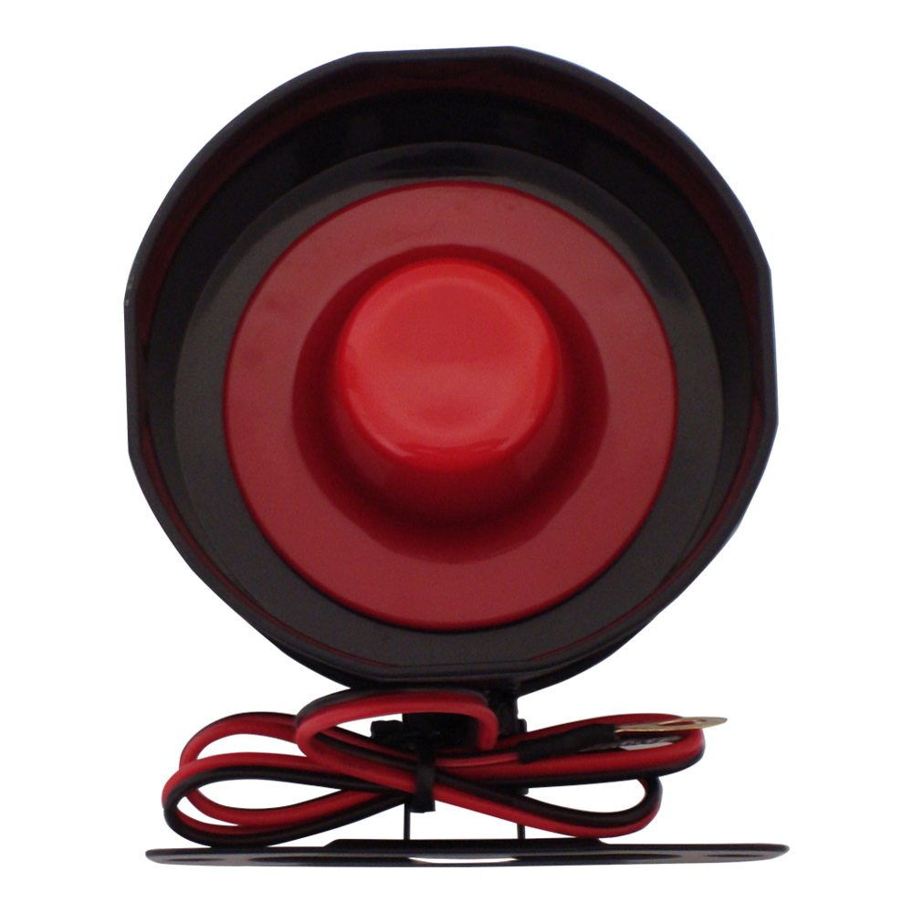 Top Selling Universal 6 Six Tone Siren Horn For Car Alarms DC12V 15W 120dB Electronic Siren With 35cm Wire Carsmate