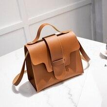 Women Vintage Handbags Small Square Solid Color Simple Female Crossbody