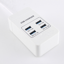 New USB Wall Socket with 4 USB Ports Extension Socket Outlet Switcher EU /UK Power Strip Travel Home Chargers