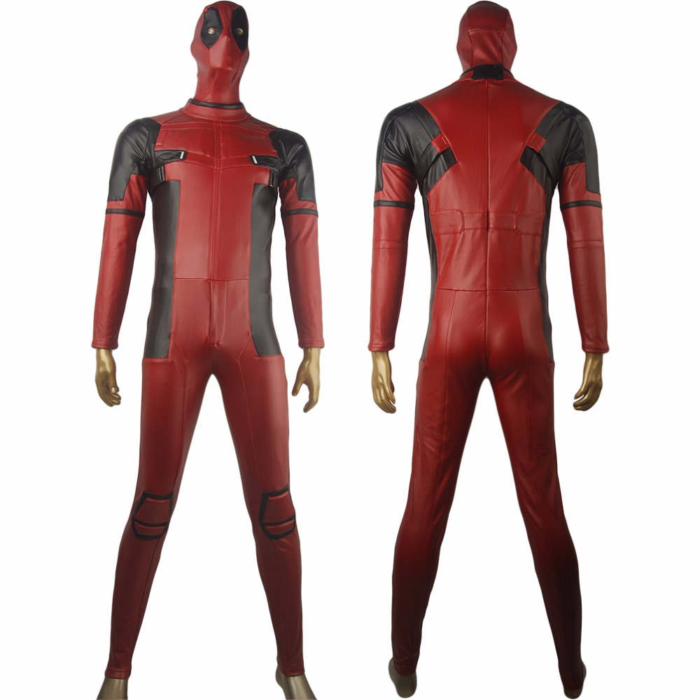 X-Men Deadpool Wade Wilson Traje Mono Halloween Anime Comic-con Fiesta Cosplay Disfraz Hombres Adultos