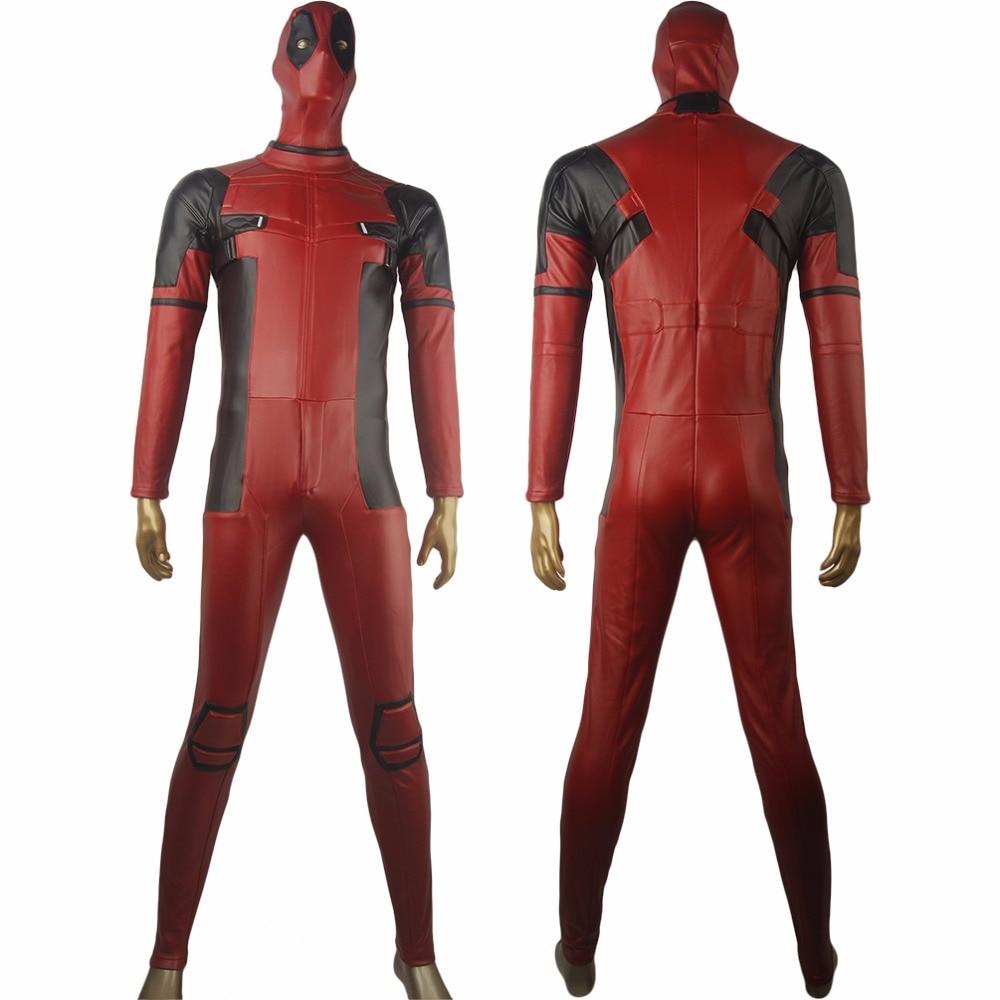 X-Men D Eadpool เวดวิลสันชุด Jumpsuit ฮาโลวีนอะนิเมะ Comic-con พรรคเครื่องแต่งกายคอสเพลย์ผู้ชายผู้ใหญ่