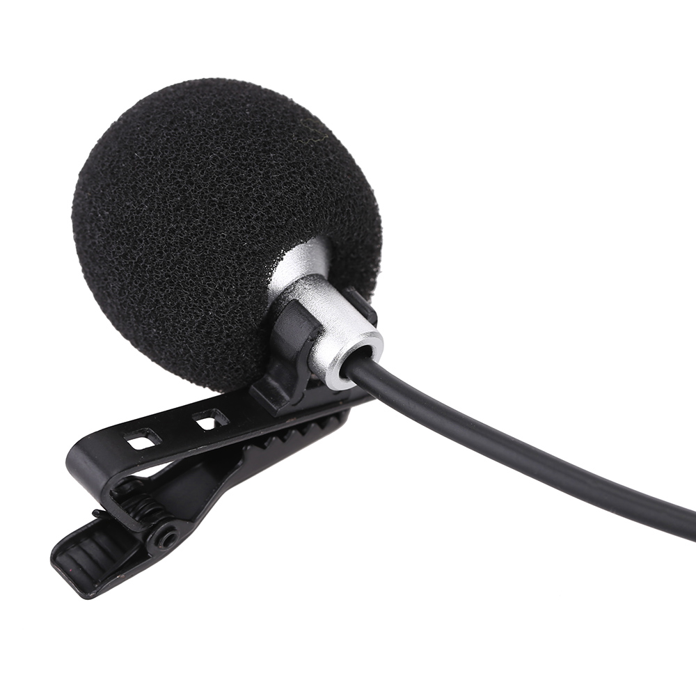 portable wired electret condenser lapel lavalier clip on musical instrument mic microphone for. Black Bedroom Furniture Sets. Home Design Ideas