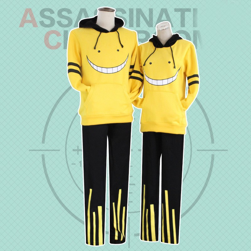 2018 New Summer Anime Assassination Classroom Cosplay Costume Korosensei School Uniform  Printed Pants Clothing Free Shipping
