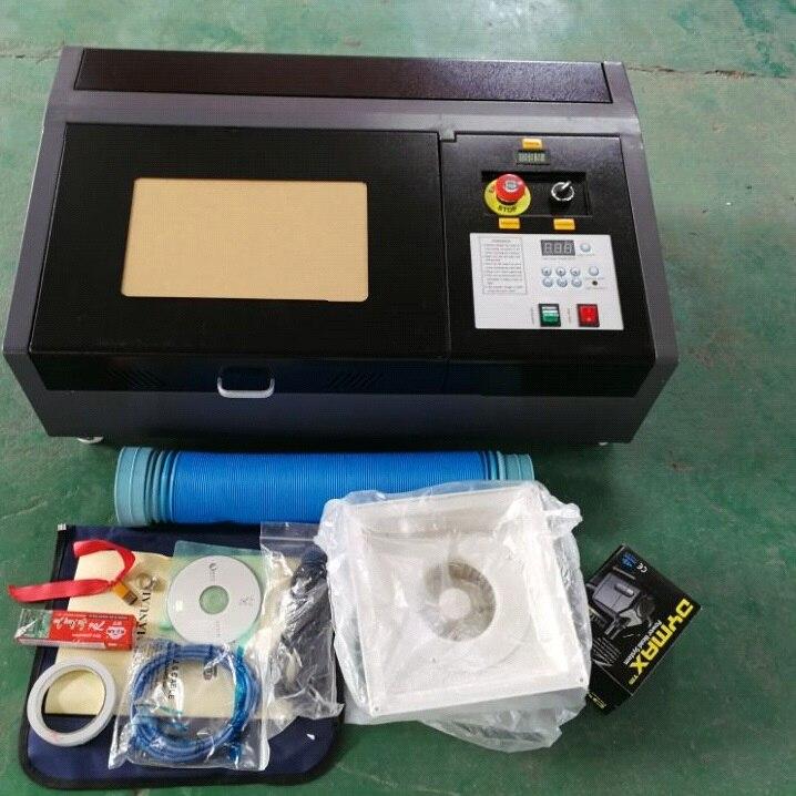 50 w Laser Aggiornato di Alta Precisione e Ad Alta Velocità di Terza Generazione CO2 Incisione Laser Macchina di Taglio