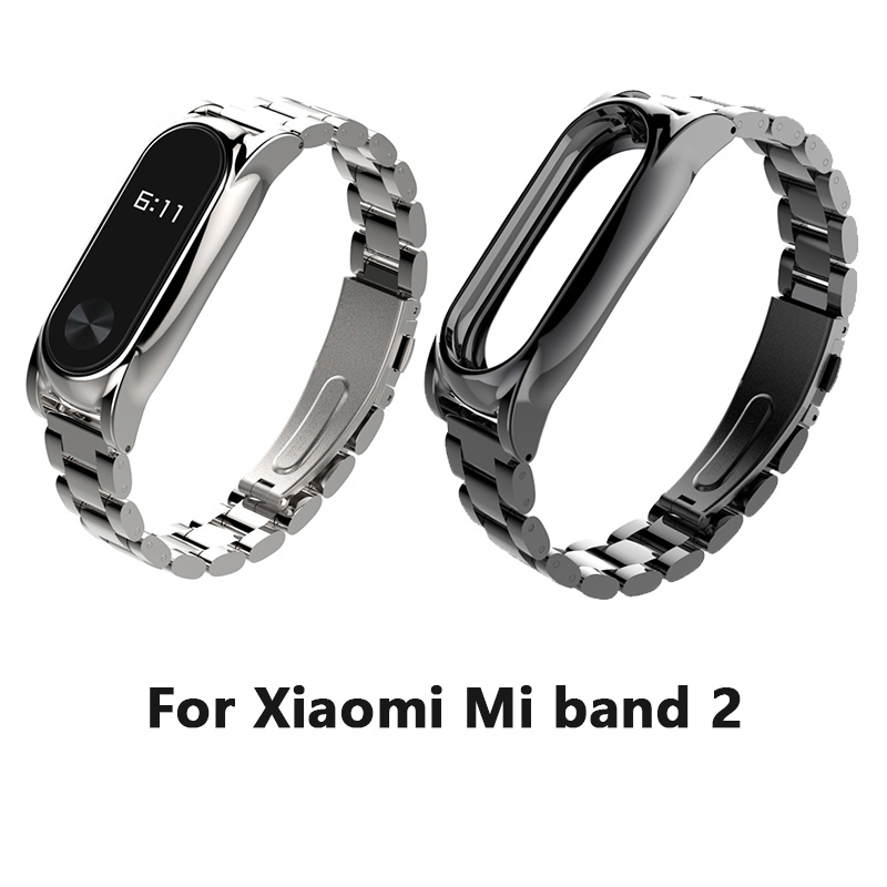 Stainless Steel Wrist Strap For Xiaomi Mi band 2 Miband OLED Smart Bracelet Wristbands Replacement Wrist Band replacement wrist strap wearable wrist band for xiaomi bracelet