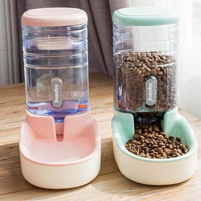 2 Unids/Set Perro Gato Comederos + Fuente Dispensador De Agua 1