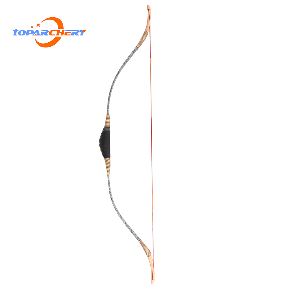 30 50lbs Traditional Bow Shooting and Hunting Archery Target Wooden Longbow Recurve Bows for Outdoor Sports