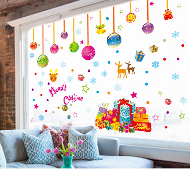 Pegatinas pared new years window cristmas decoration wall for Home decorations for new year