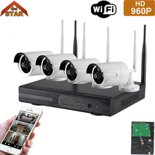Stardot Wifi CCTV System 960P HD 4CH Wireless NVR kit HDD Outdoor IR Night Vision IP Wifi Camera Security System Surveillance