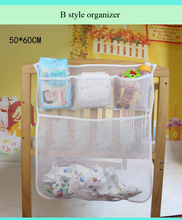 Baby Cot Bed Hanging Storage Bag Crib Organizer Toy Diaper nappy Pocket for Crib Bedding Set cheap crib bedding accessory