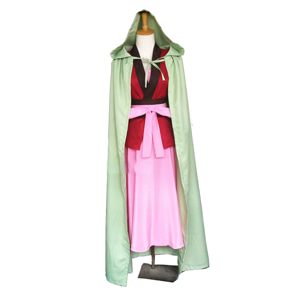 2018 Yona of the Dawn Akatsuki no Yona Cosplay mens womens Costume clothing sets dress girls boys Cos Cape cloak Gift ear rings