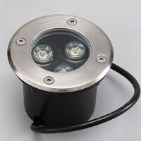 Freies Verschiffen AC85 ~ 265V 3X3W Outdoor Einbau LED Boden Lampe Wasserdichte IP68 LED Unterirdischen Licht Landschaft Beleuchtung LED lampen