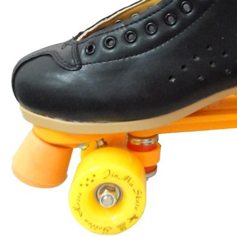 Image 5 - Professional Parenting Two Line Roller Skates Shoes Double Row Skating 4 PU Wheels High Grade PVC Leather Children Adult IB49Skate Shoes   -