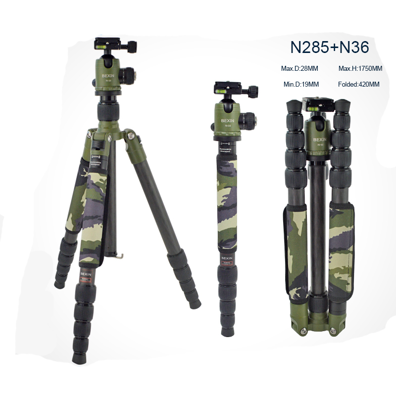 Professional Tripod Monopod for Canon Nikon DSLR camera Photographic Flexible Portable Tripod Camera Stand & Panoramic Bal lhead