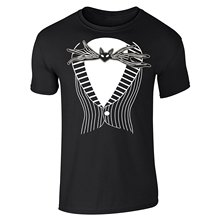 Custom-Fit Graphic Tees Jack Skellington Tuxedo Costume Short Sleeve T-Shirt Crew Custom Made T Shirts