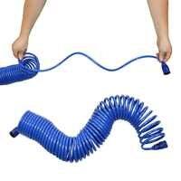 10 m, 15 m printemps tuyaux de plomberie Flexible tuyau de douche pour l'eau plomberie jardin pulvérisateur pistolet accessoires de salle de bain