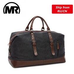 MARKROYAL Leinwand Leder Männer Reisetaschen Tragen auf Gepäck Taschen Männer Duffel Taschen Handtasche Reise Tote Große Wochenende Tasche Übernachtung