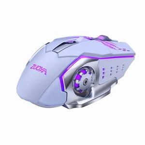 Image 5 - ZUOYA, Mouse inalámbrico silencioso para juegos, ratón inalámbrico recargable de 2,4 GHz y 2000DPI, ratón óptico USB para juegos, ratón retroiluminado para PC y portátil