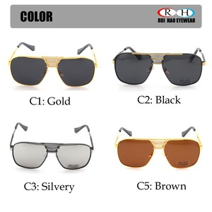 Image 4 - Polarized Sunglasses Men Double beam Retro Design Driving Sun Glasses Man Pilot Sunglasses Anti UV lentes de sol hombre PE200