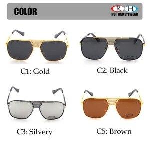 Image 4 - Óculos de sol polarizados homens duplo feixe retro design condução óculos de sol homem piloto óculos de sol anti uv lentes de sol hombre pe200
