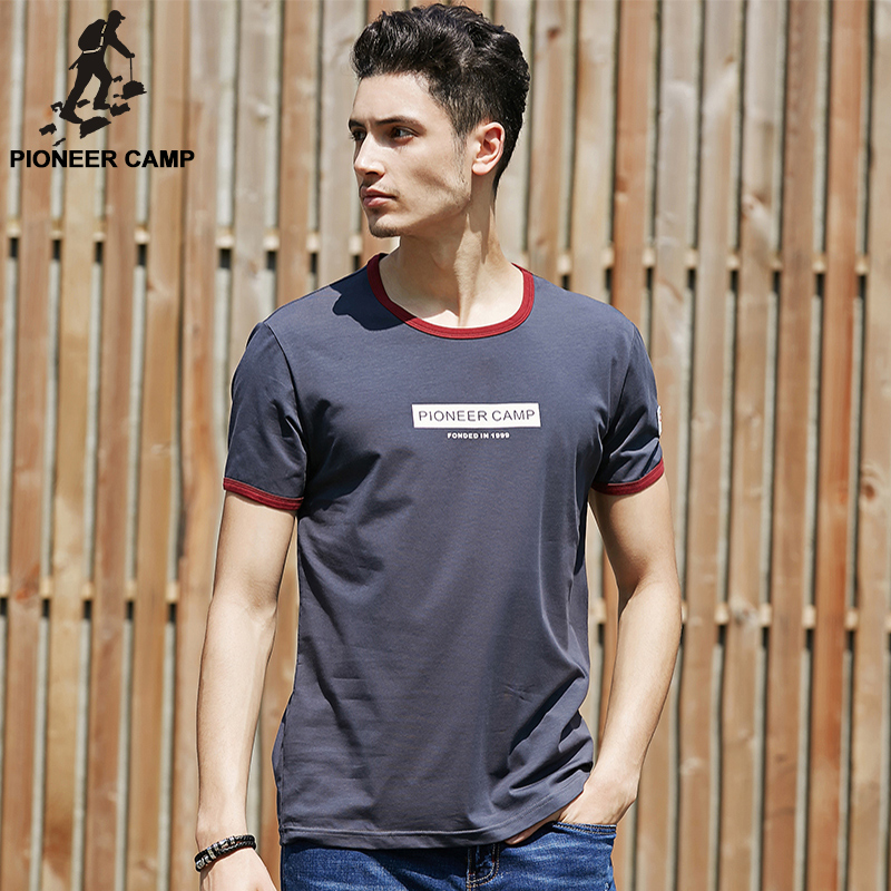 Pioneer Camp Summer Letters Printed Camiseta Men O Neck T shirt Fitness Clothing Soft Breathable Causal Men Tshirt For Male