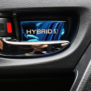 Image 2 - Auto Door Inner Bowl Sticker interior moulding for toyota Corolla auris 2014 2018 ,4pcs/lot, car accessories