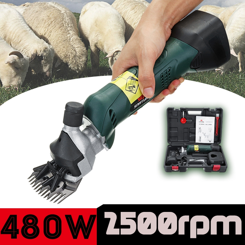 A set 480W Electric Sheep Goats Shearing Hair Clipper Farm Shearing Machine Rechargeable Can Adjustable Speed new 680w sheep wool clipper electric sheep goats shearing clipper shears 1 set 13 straight tooth blade comb