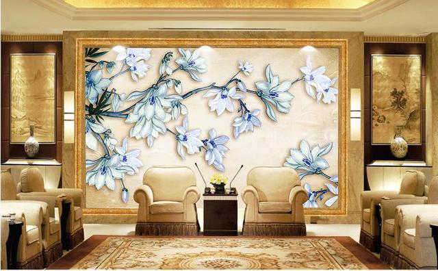 Sticker moderne eenvoud stijl muurschildering sieraden bloemen mural