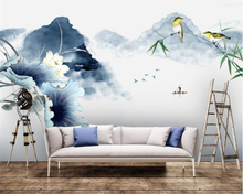 beibehang New Chinese character simple 3d wallpaper abstract ink landscape wall papers home decor background decorative painting