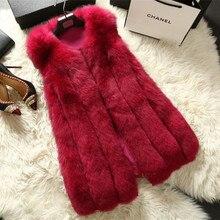 2016 Lady Fashion Genuine Nature Whole hide Fox Fur Vest Waistcoat Winter Women Fur Gilet Outerwear