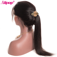 ALIPOP Straight Brazilian Lace Front Human Hair Wigs For Black Women With Baby Hair Pre
