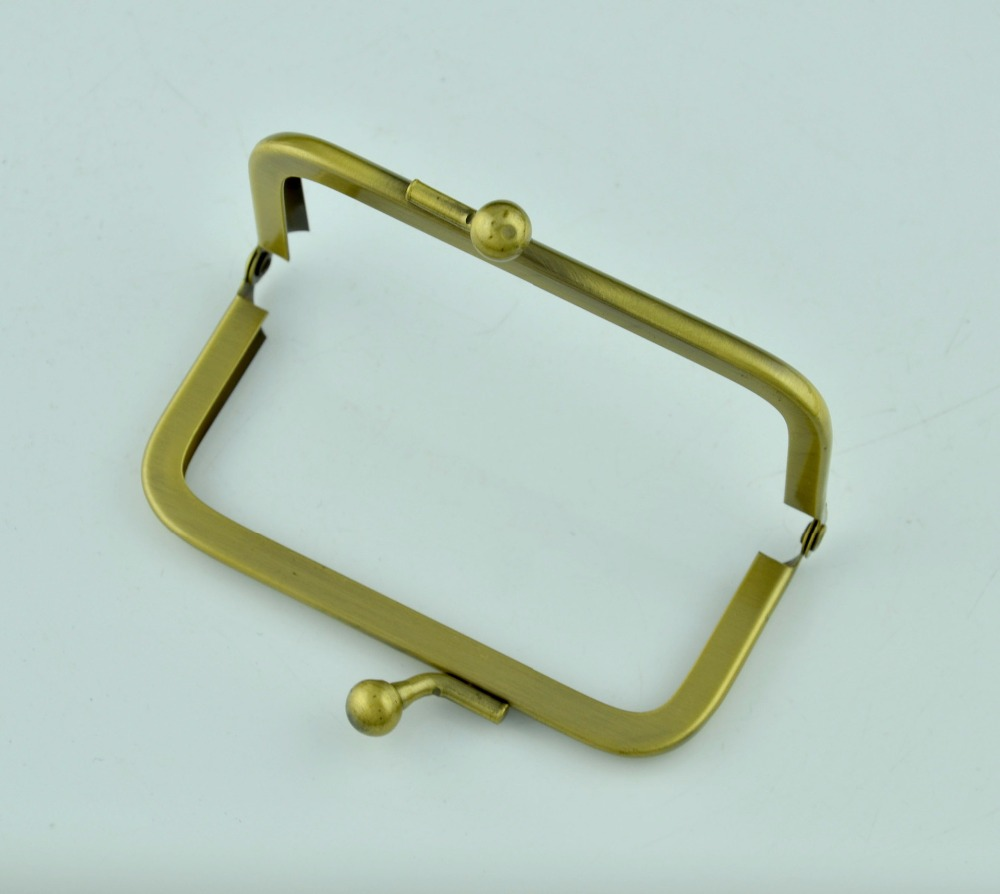 9 cm size with 8mm two ball clasp metal coin purse framemini purse frame