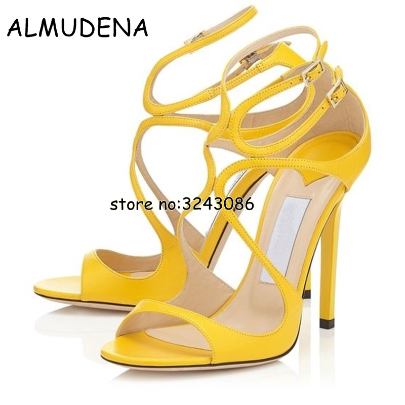 c68237dcf03 Nude Patent Leather Strappy Lance Sandals Women Party Shoes Woman Open Toe  Cut Outs Buckle High Heels Gladiator Sandals Shoes-in High Heels from Shoes  on ...