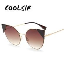 COOLSIR 2019 Fashion Cat Eye Sunglasses Women Brand Designer Glasses Classic Shades Vintage Eyewear UV400 Shad Oculos de sol