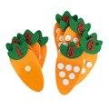 1-10 развивающая игрушка Монтессори Нетканая детская головоломка ручная работа DIY математические игрушки детский сад спичка моркови цифровы...