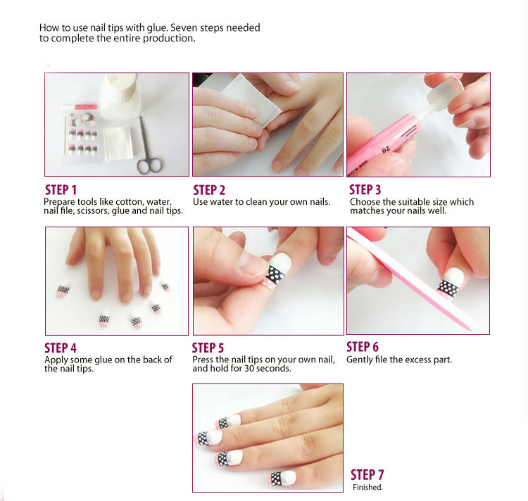 Aliexpress 24pcs Lot False Toe Nails Red Black Heart With Designs Fake Glue Plastic Acrylic Tips Nail Faux Ongle Diy Toenail New From