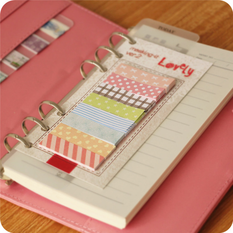 6 pcs/Lot Lovely sticky notes and memo label Mini diary plans