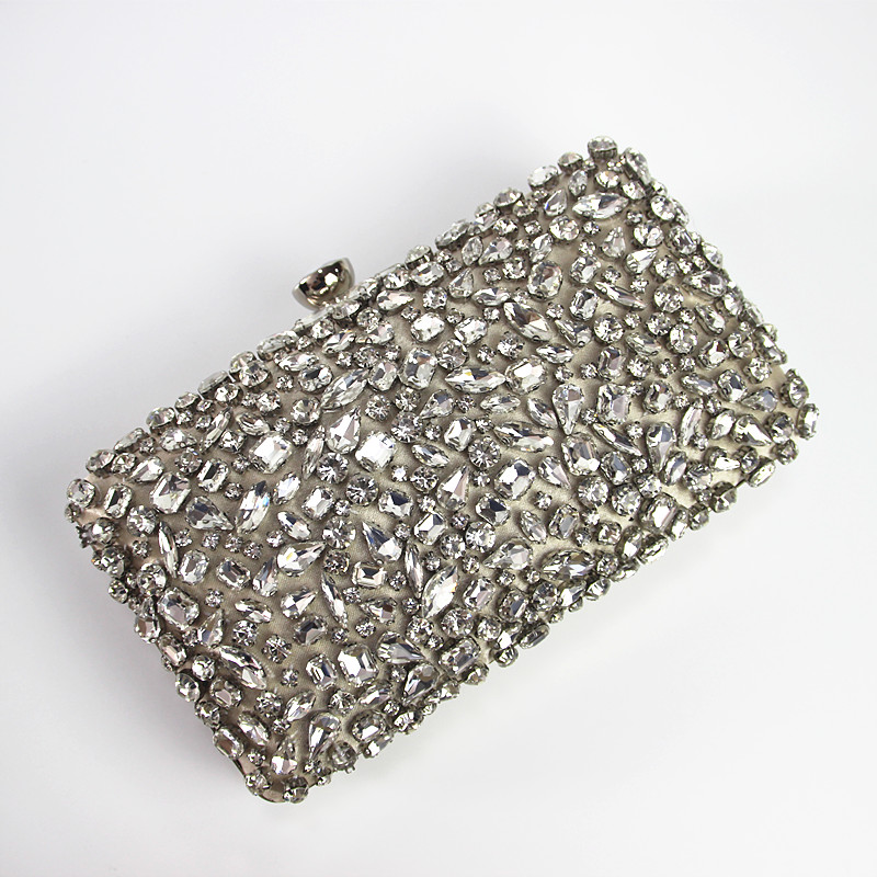 2018 New Wallet Women evening bag Noble luxury fashion handbags handmade  glass diamond woman Dinner Clutch vintage evening bag -in Evening Bags from  Luggage ... e499d84eb7a3