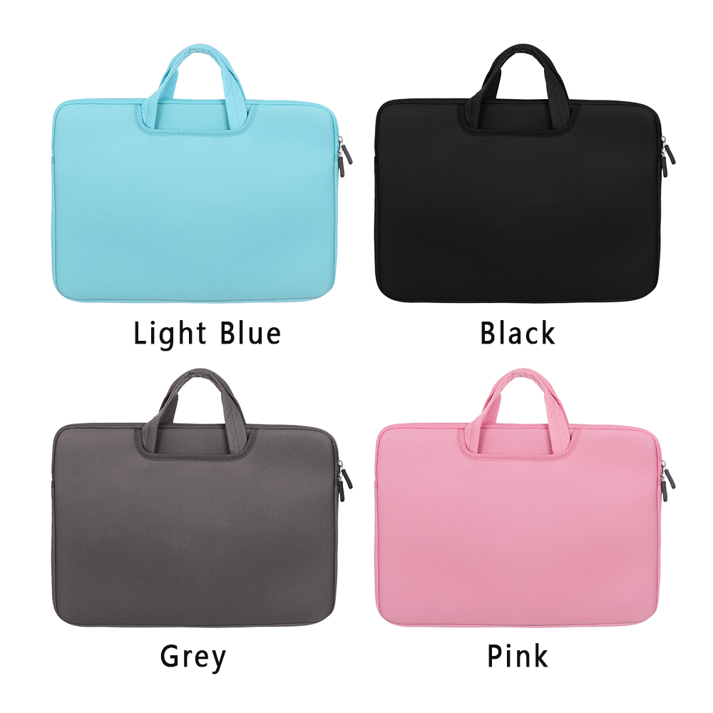 Image 5 - 11 13 14 15 15.6 inch Laptop Bag Computer Sleeve Case Handbags Dual Zipper Shockproof Cover For Laptop MacBook Air Pro Retina-in Laptop Bags & Cases from Computer & Office