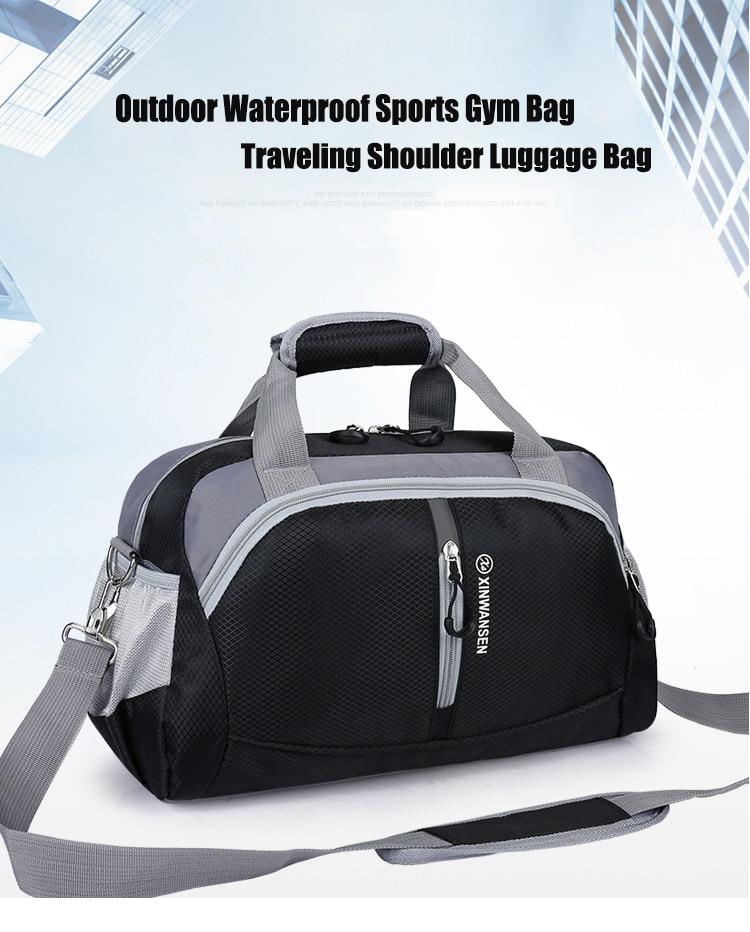 5e5e00b50 Gimnasio Deportivo resistente al agua de nailon superior profesional Bolso  mujer hombres para gimnasio entrenamiento hombro Bolso de viaje bolso de  yoga ...