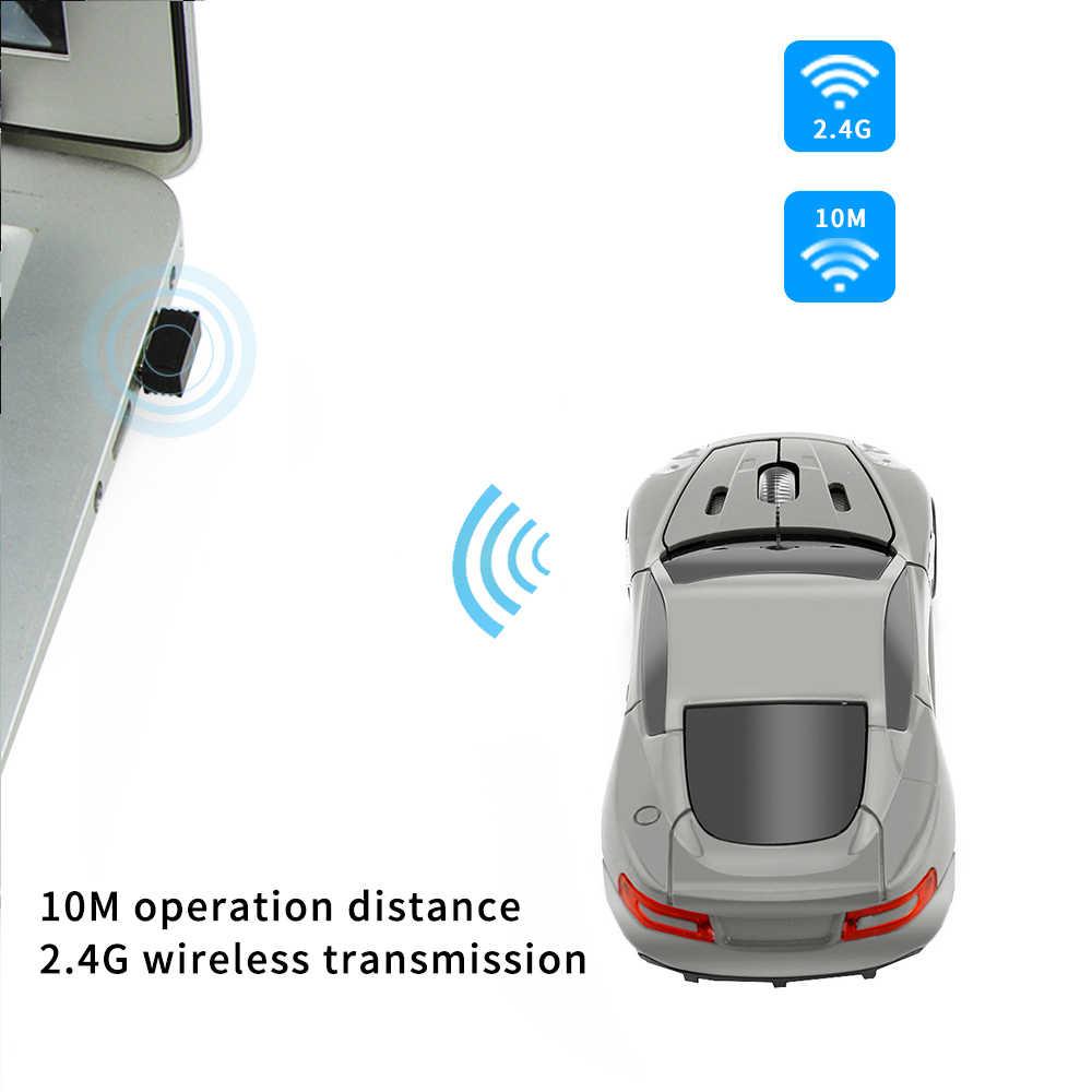Ratón inalámbrico óptico USB Mause 2,4G receptor USB Super deportivo para juegos de coches ratón para ordenador portátil envío gratis